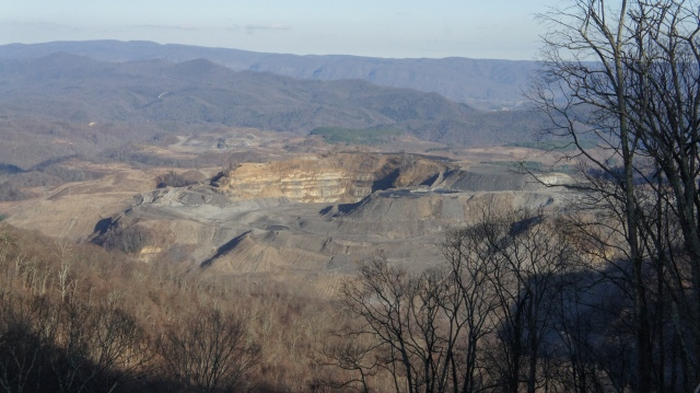 "this ""active"" mountaintop removal mining site has been idle for over a year"